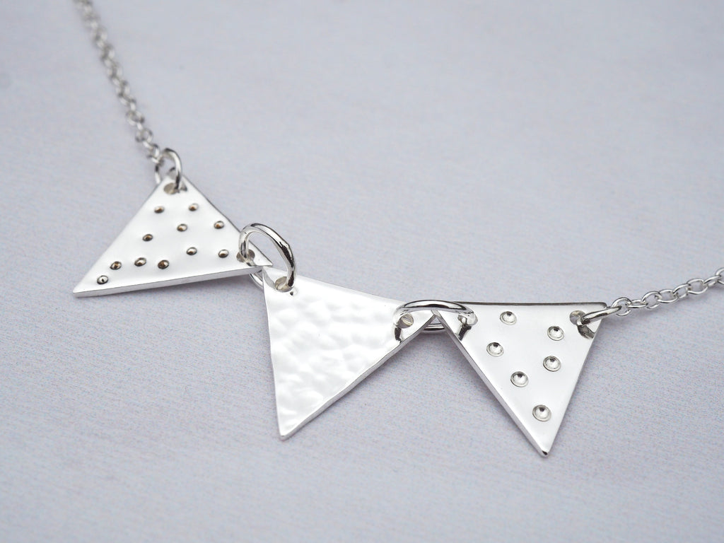Silver Bunting Necklace | Sterling Silver