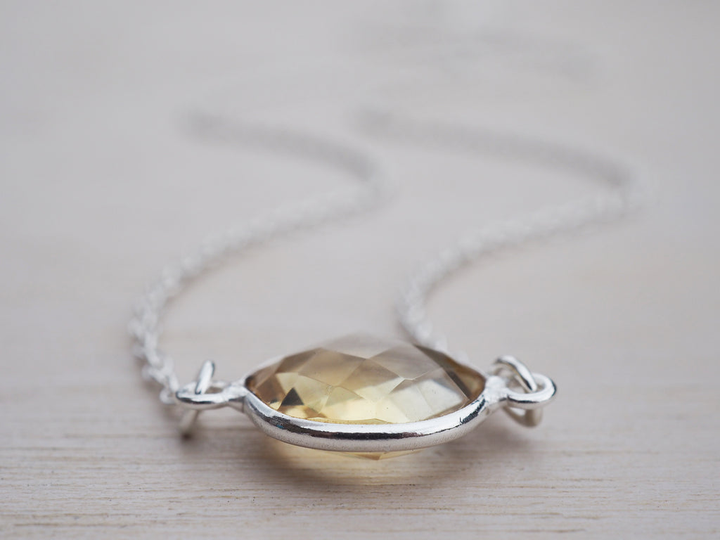 Citrine Necklace | Sterling Silver