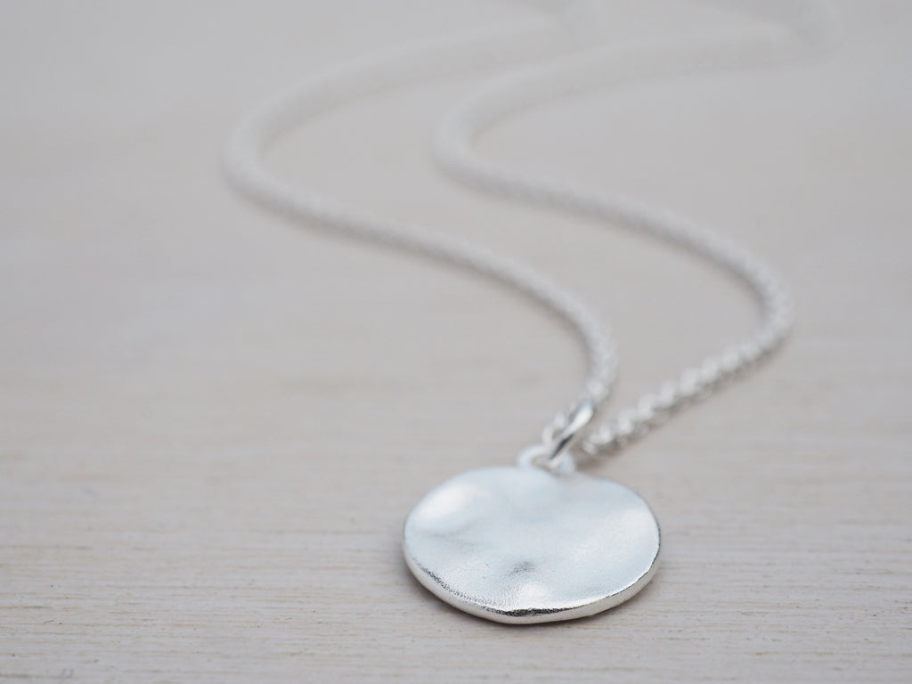 Minimalistic Silver Circle Necklace | Sterling Silver