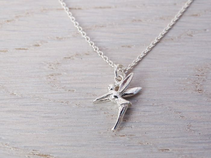 Tiny Silver Fairy Necklace | Tinkerbell | Childrens Jewellery | Sterling Silver
