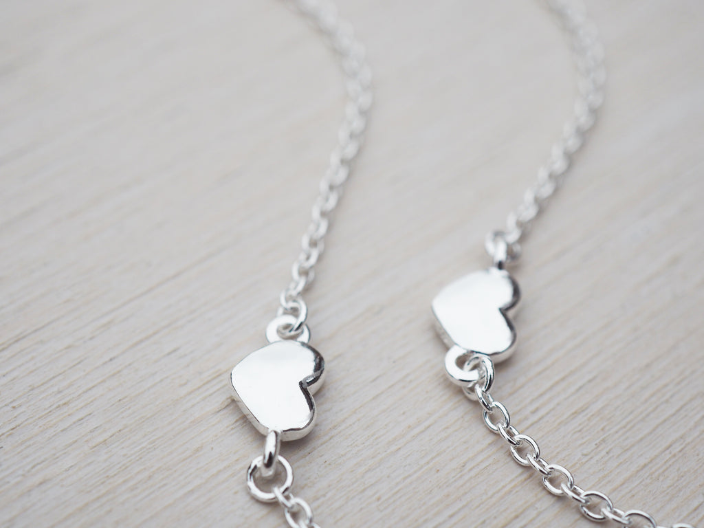 Silver Heart Chain | Necklace | Sterling Silver