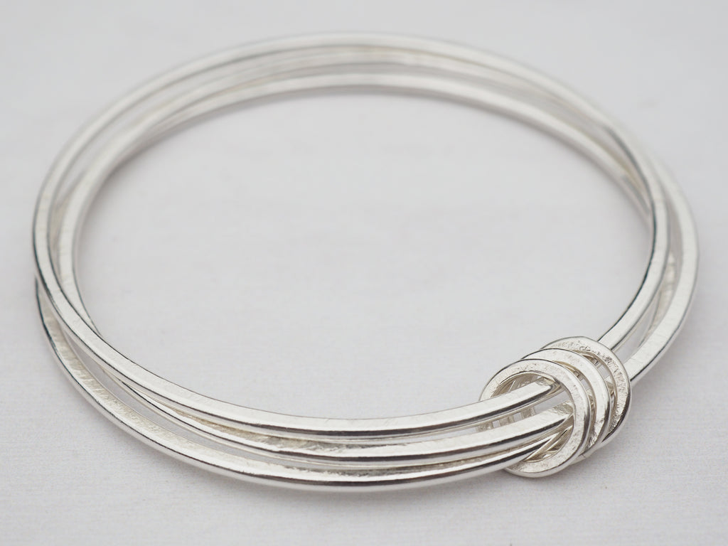 Triple Silver Bangle | Sterling Silver