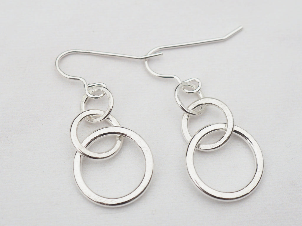 Textured Hoop Earrings | Sterling Silver