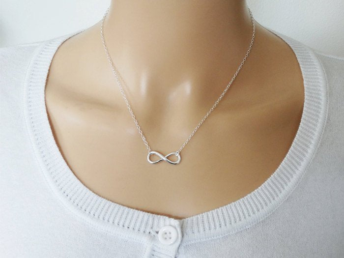 Silver Infinity Necklace - Sterling Silver