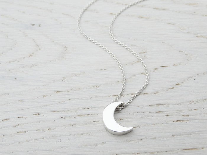Silver Moon Necklace - Sterling Silver