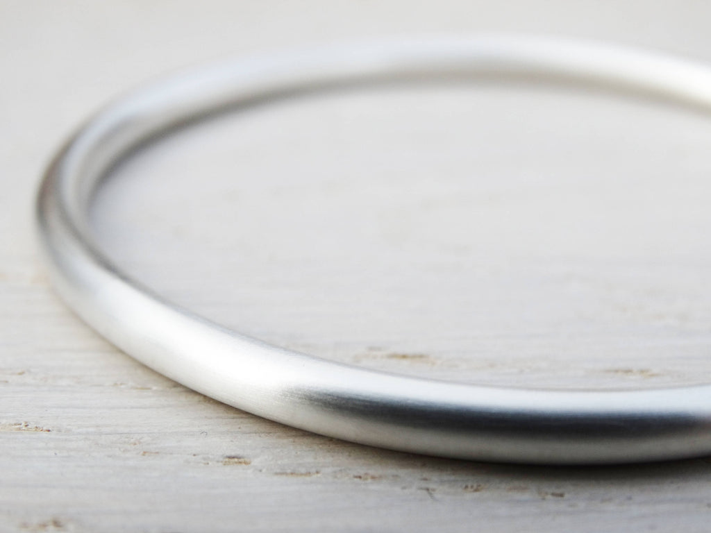 Chunky Solid Silver Bangle, Sterling Silver