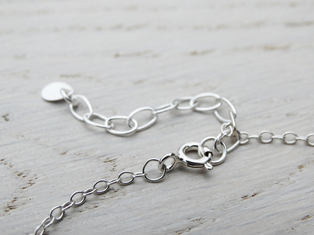 Dotty Silver Circle Bracelet, Sterling Silver