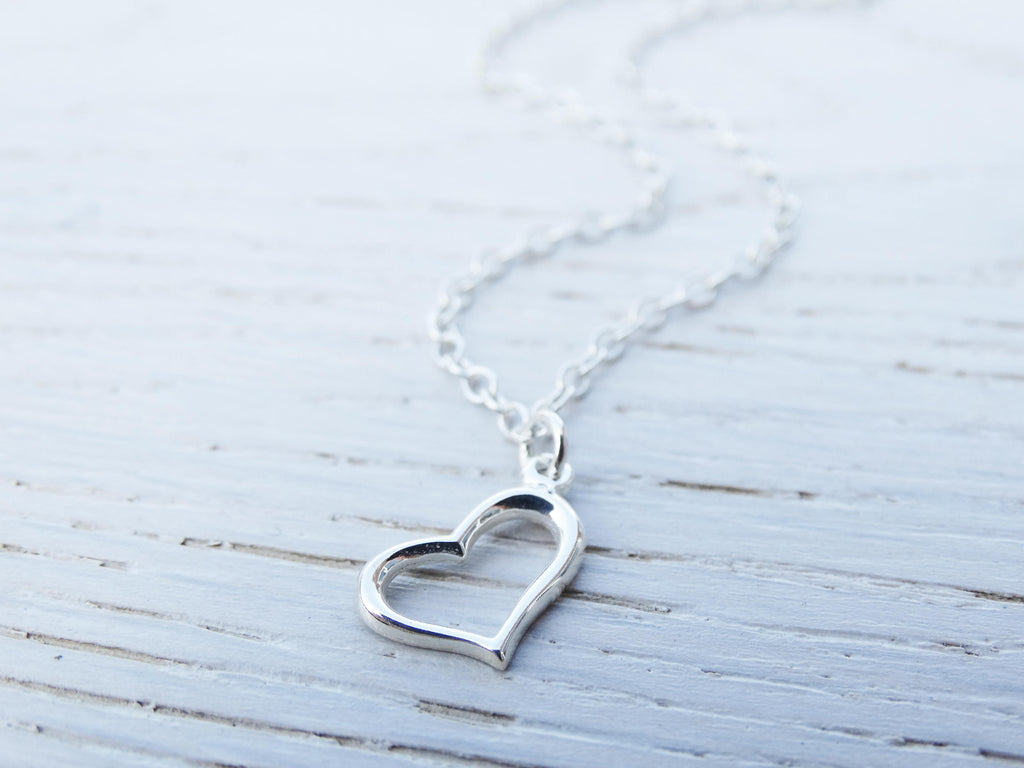 Silver Heart Anklet, Sterling Silver