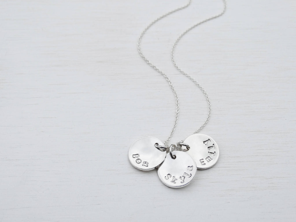 Personalised Sterling Silver Names Necklace
