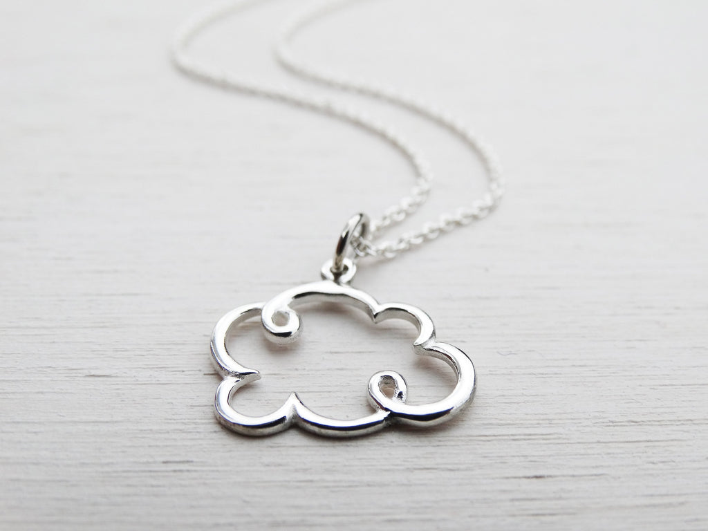 Silver Cloud Necklace, Sterling Silver