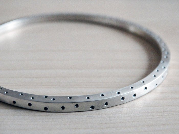 Dotty Silver Bangle, Solid Silver, Sterling Silver
