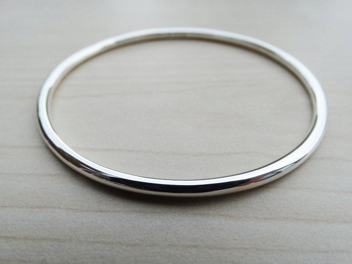 Solid Silver Bangle | Sterling Silver