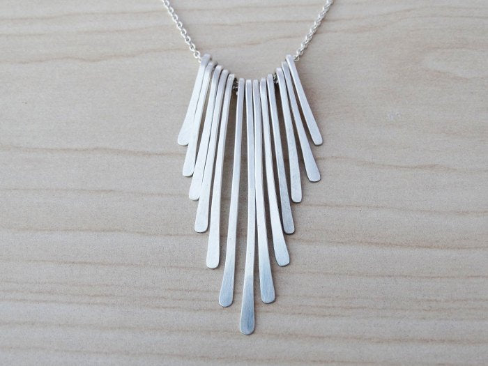 Delicate Sterling Silver Fringe Necklace