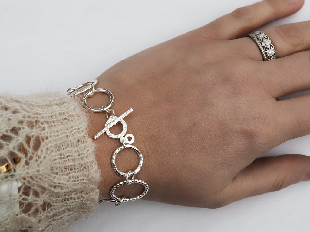 Sterling Silver Circle Links Bracelet