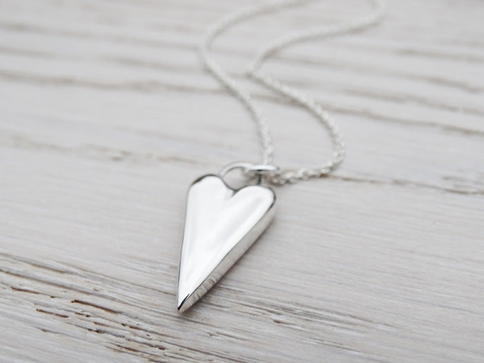 Solid Silver Heart Necklace | Sterling Silver