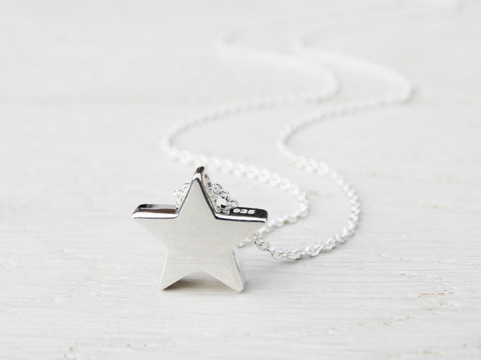 Silver Star Necklace | Solid Sterling Silver