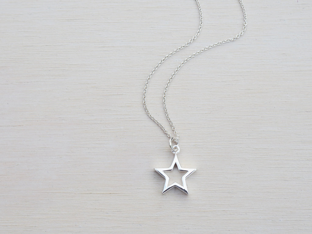 Open Silver Star Necklace | Solid Sterling Silver