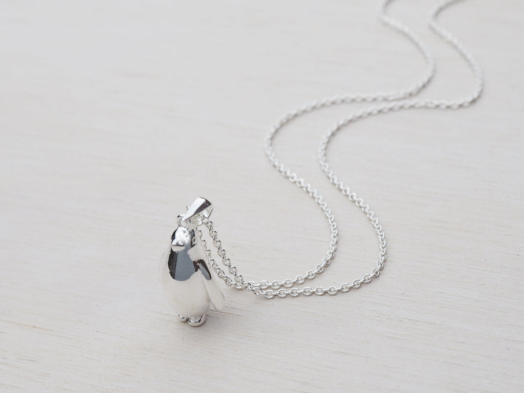 Silver Penguin Necklace | Sterling Silver