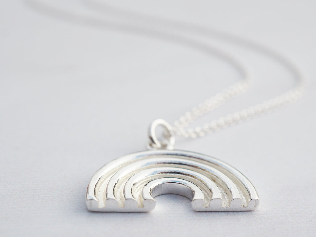 Silver Rainbow Necklace | Sterling Silver | Be Your Own Rainbow