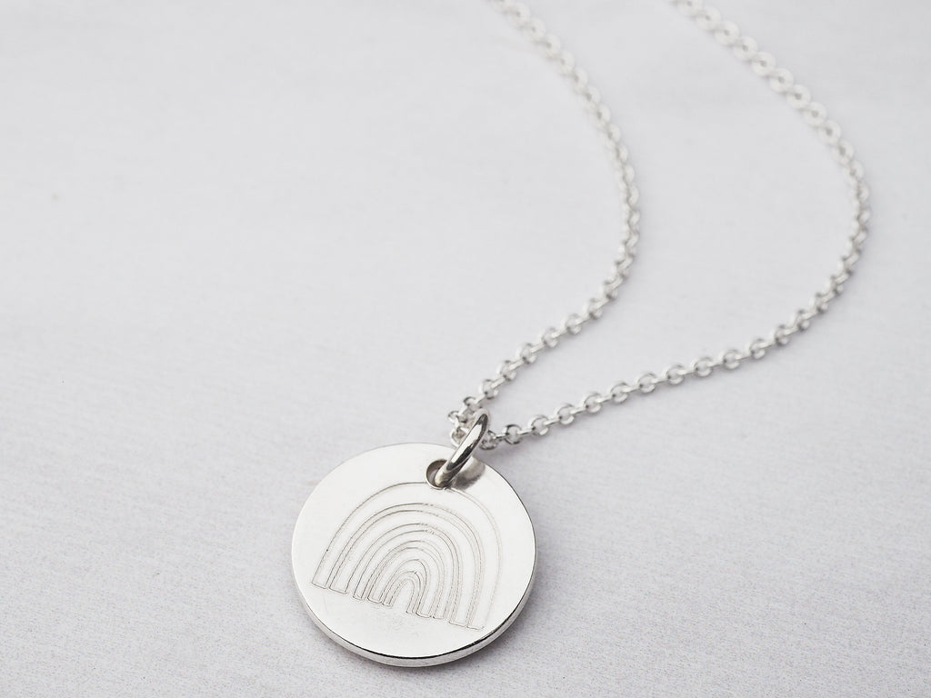 Mini Silver Rainbow Necklace | Sterling Silver