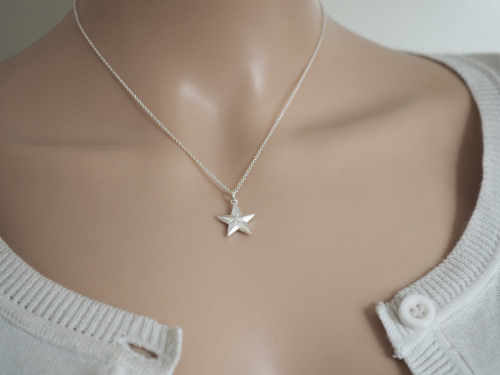 Silver Star Necklace | Geometric | Solid Sterling Silver
