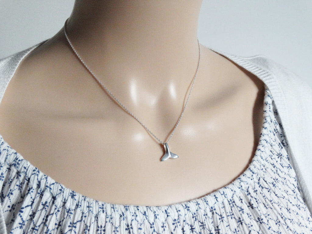 Silver Whale Tail Necklace | Sterling Silver | Mermaid Tail | Nautical Jewellery