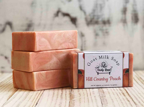 Hill Country Peach Goat Milk Soap - Dusty Road Farm