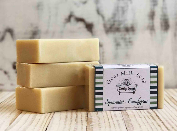 Speamint Eucalyptus All Natural Goat Milk Soap - Dusty Road Farm