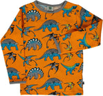 Smafolk Dinosaur Top Longsleeve Orange