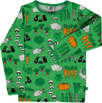 Smafolk Vegetables Green Top Longsleeve