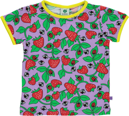 Smafolk Strawberry Viola Top Shortsleeve