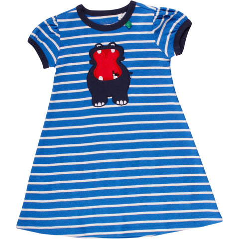 Fred's world by green cotton Hippo Stripe Dress Shortsleeve