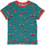 Maxomorra Crab Top Shortsleeve