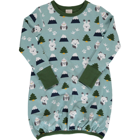 Maxomorra Winter World Dress Balloon Longsleeve