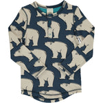 Maxomorra Polar Bear Top Longsleeve Slim Button