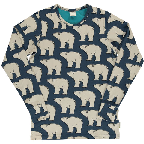 Maxomorra Polar Bear Top Longsleeve Adult