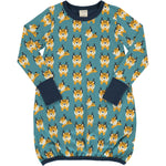 Maxomorra Lynx Dress Balloon Longsleeve