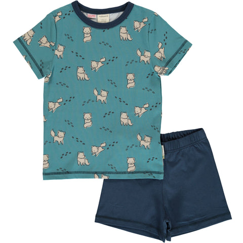 Maxomorra Arctic Fox Pyjama Set Shortssleeve