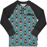 Maxomorra Moon Rocket Top Longsleeve Baseball