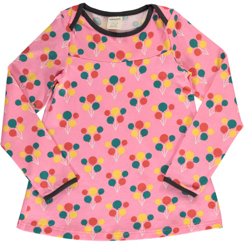 Maxomorra Party Balloon Top Flare Longsleeve