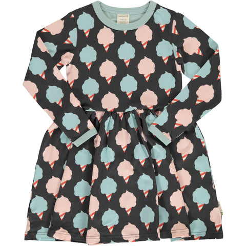 Maxomorra Sweet Cotton Candy Dress Spin Longsleeve