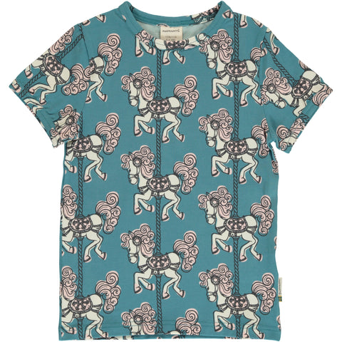 Maxomorra Merry Go Round Top Shortsleeve