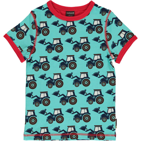 Maxomorra Tractor Top Shortsleeve