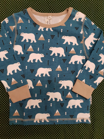 Maxomorra Polarbear Longsleeve top