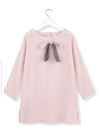 Kids on the Moon Pink ribbon dress