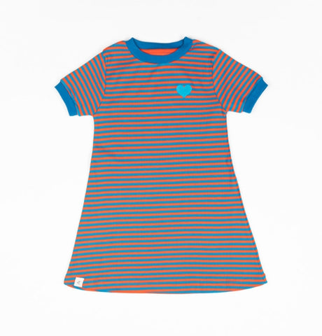 Alba Vida Dress Orange Magic Stripes
