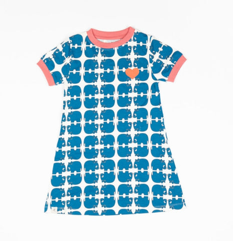 Alba Vida Dress Snorkel Blue Wanna be an Animal