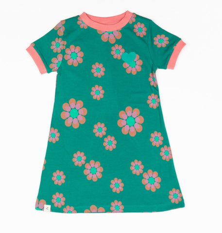 Alba Vida Dress Flower Power Love Alpine Green