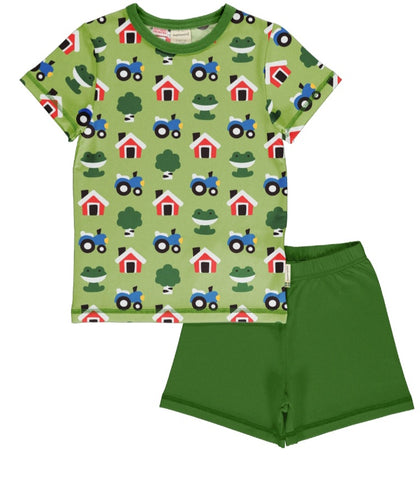 Maxomorra Forest Farm Pyjama set Shortsleeve
