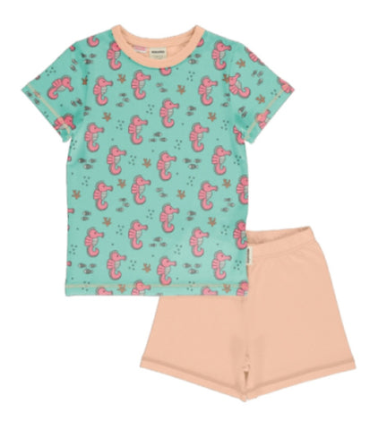 Meyaday Sea Horses Pyjama Set Shortsleeve